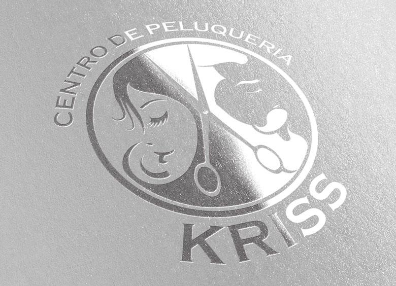 Logotipo peluquería KRISS de Cantabria