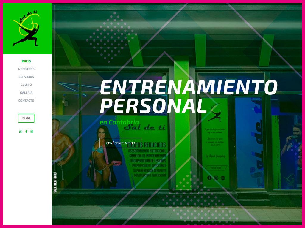 Página web corporativa de Entrenador Personal en Cantabria
